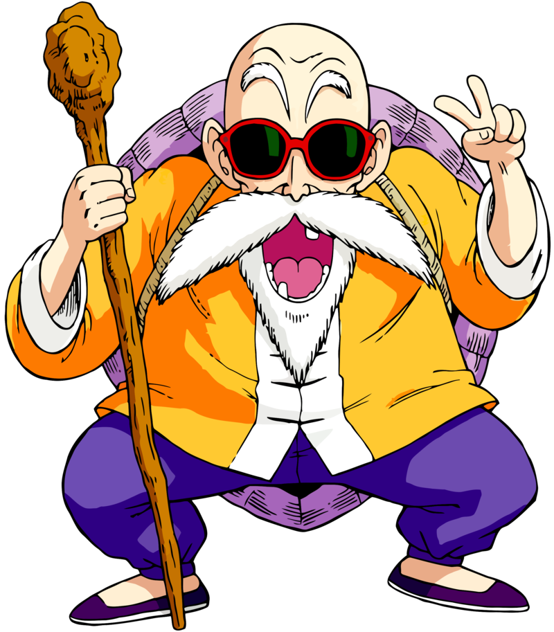 Dragon Ball Z Cartoon Characters Names : Master roshi also known as turtle hermit true name