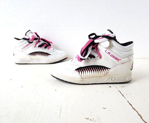 cffe956f92e 1980s-90s L.A. Gear sneakers with pink and black accents
