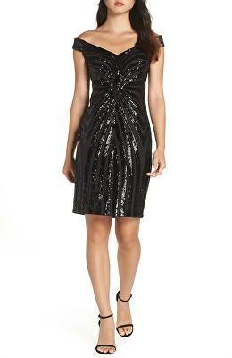 ece85c31e58 Vince camuto designer sequin embellished off the shoulder dress ...
