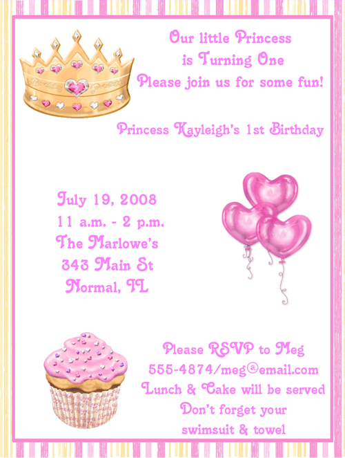 Princess birthday party invitation wording 1st pink princess princess birthday party invitation wording 1st pink princess birthday party invitations invitations are a great stopboris Choice Image