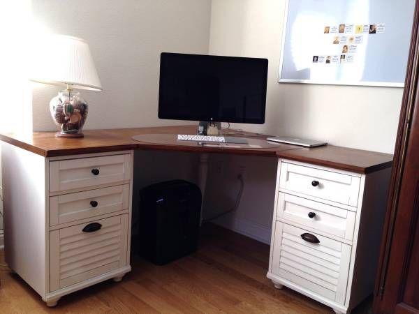 Pottery Barn Whitney Corner Desk 2 3drawers Desktop Is Finished