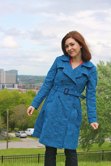 Lace Trench by lladybird, via Flickr | DIY Coats and Jackets | Pinterest