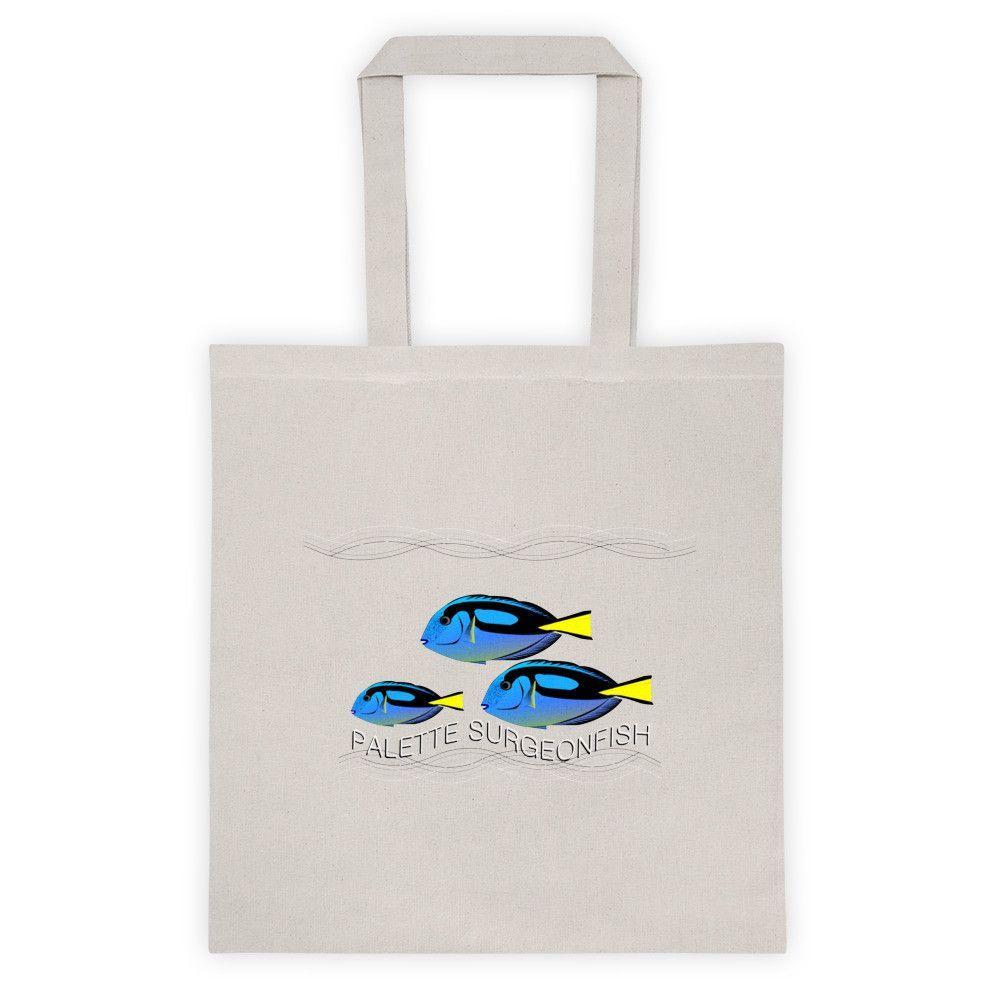 "'Palette Surgeonfish' D3 (Tote Bag) 14.5"" X 15.5"" Canvas Black or White"