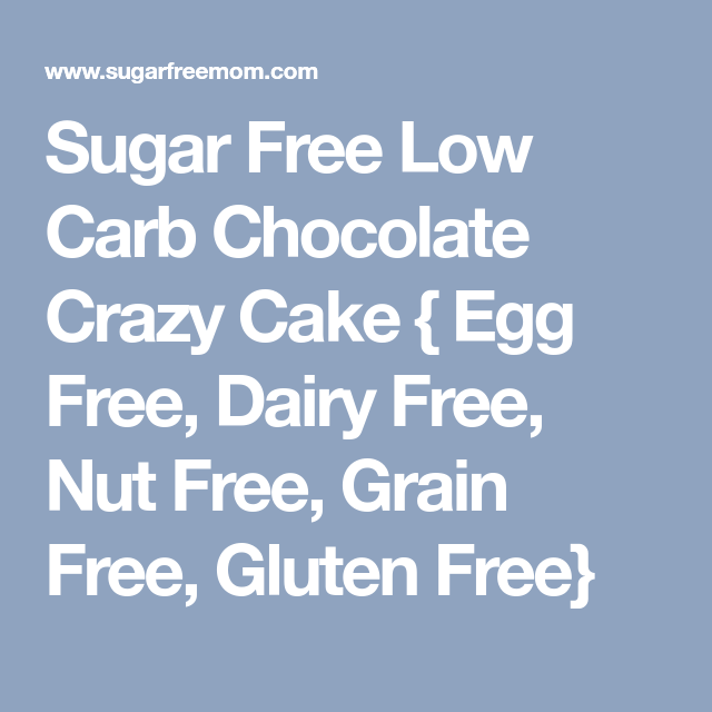 Sugar Free Low Carb Chocolate Crazy Cake Egg Free Dairy Free Nut Free Gluten Free Recipe