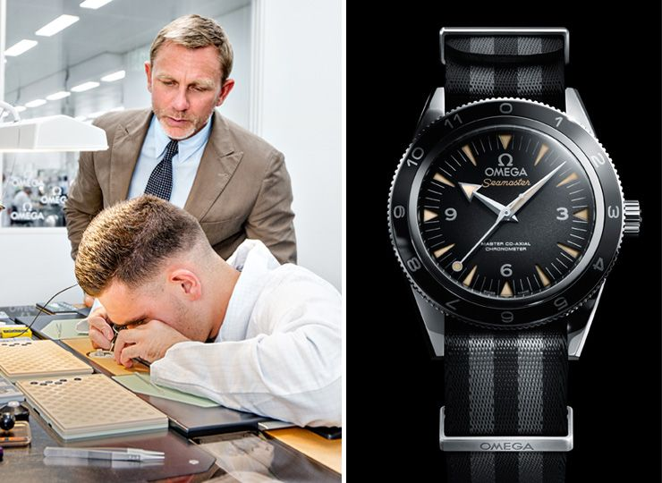 Daniel Craig Visits The Omega Factory In Switzerland