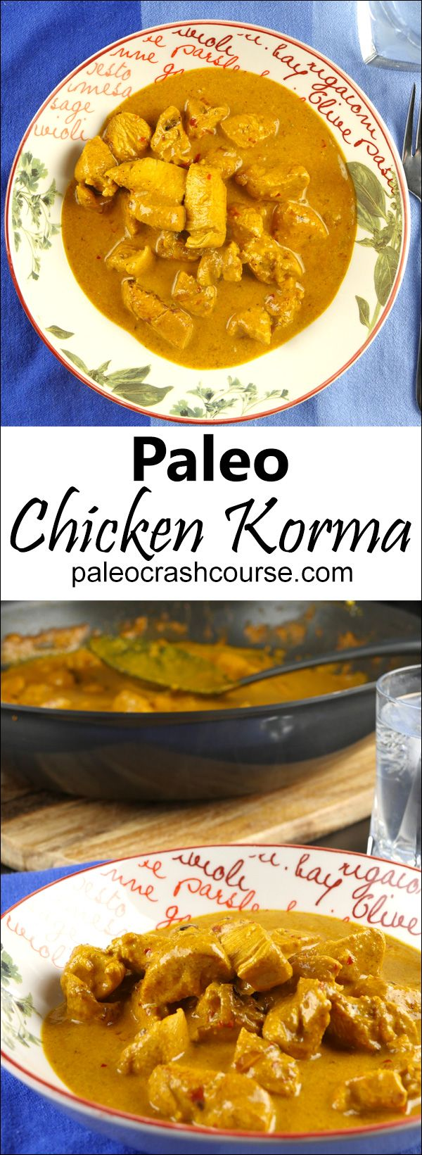 Delicious paleo chicken korma made completely from scratch! It's incredibly simple and will please any curry lover!