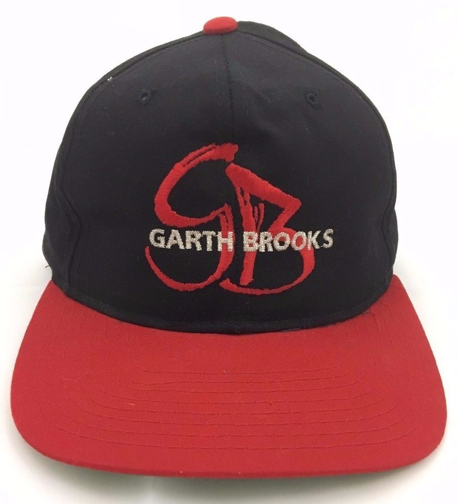 Garth Brooks You Gotta Believe Tour Snapback Hat Cap Black Country Music  1990s  Yupoong  BaseballCap 0c796f6f5010