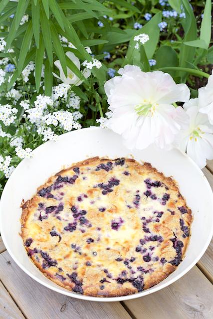 Hämmentäjä: Sweet American blueberry pie. Makea amerikkalainen mustikkapiirakka