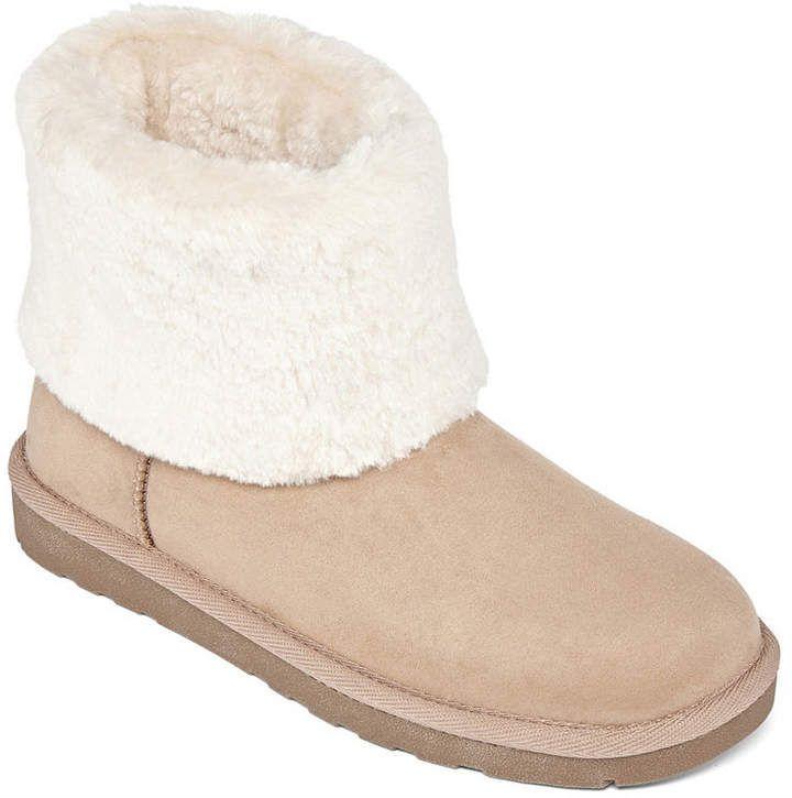 Arizona Womens Shawn Winter Boots Flat Heel Pull-on