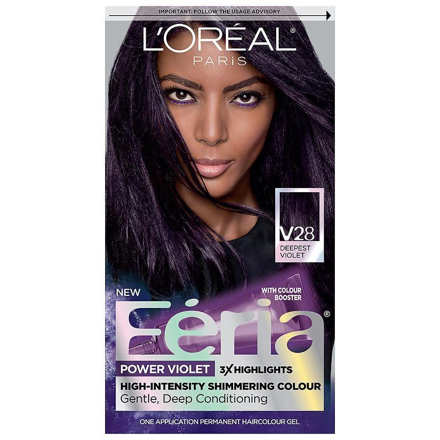 L Oreal Paris Feria Permanent Hair Color V28 Midnight Violet