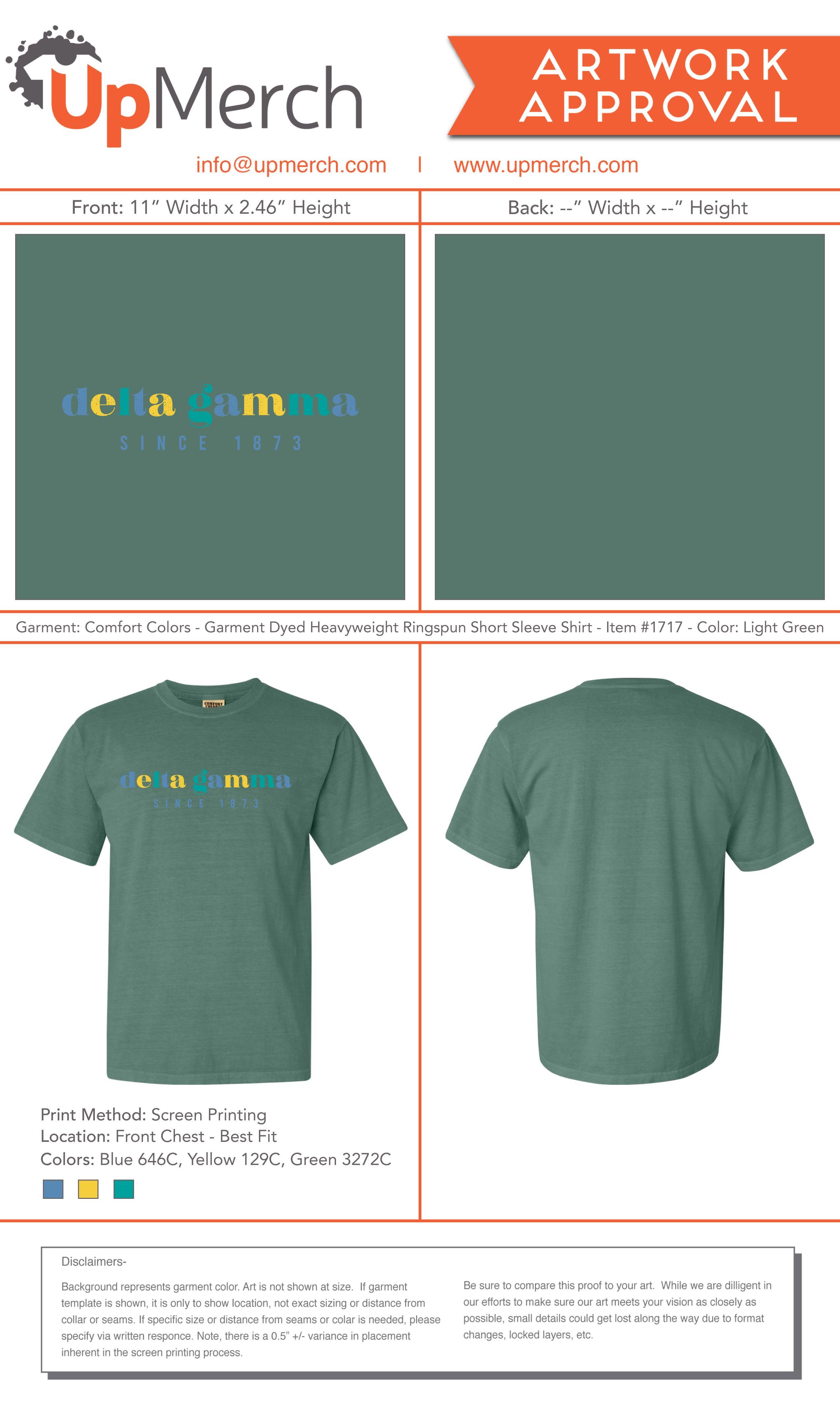 Upmerch Delta Gamma Basic T Shirt Sorority Designs Basic Tshirt Printing Methods