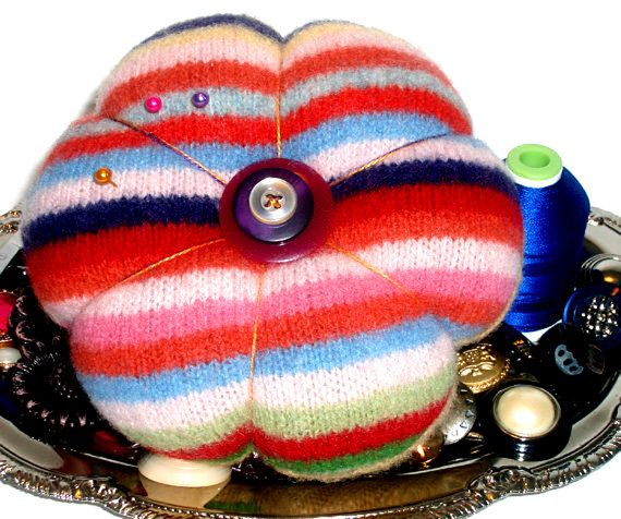 SALE  Felted Wool Pin Cushion/Self Healing by ScissorwizardDesigns, $12.00