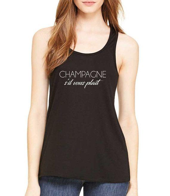 champagne s'il vous plait tank