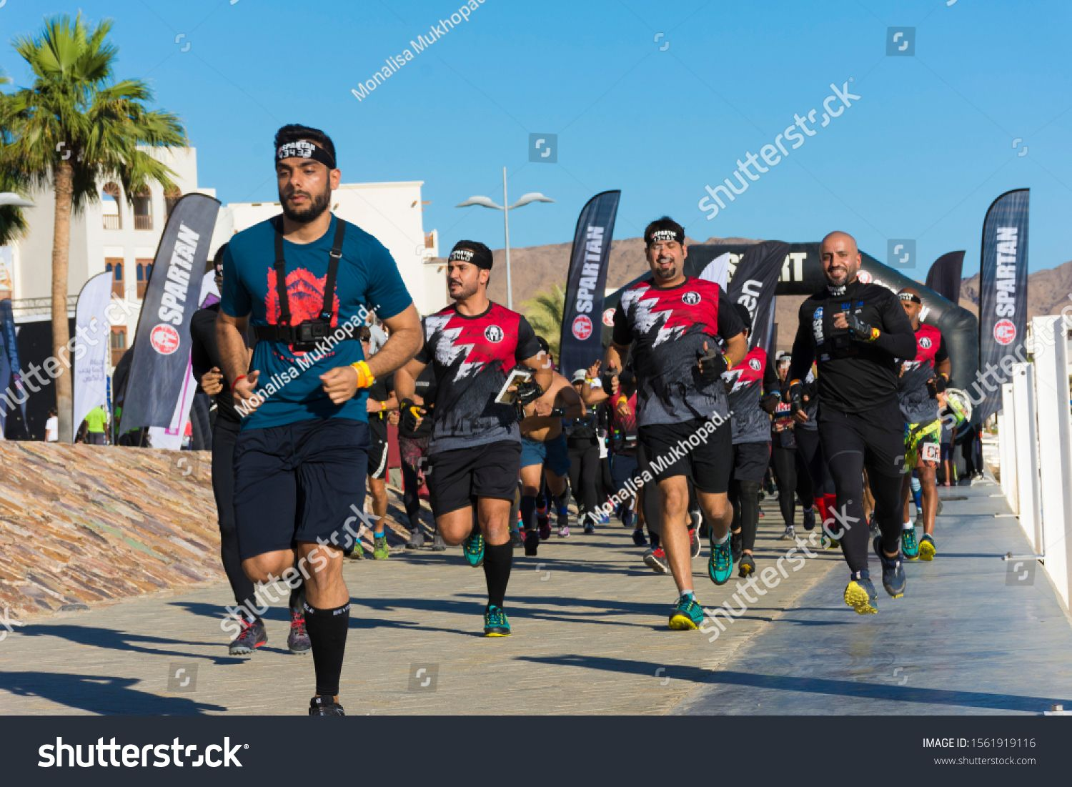 Muscat Oman 15th November 2019 Spartan Arabia At Jebel Sifah Trifecta Daytime Adventure Sports Of Diverse People Photo Editing Stock Photos Adventure Sports