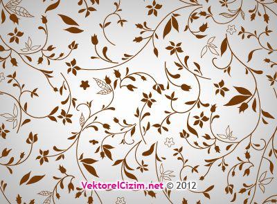 Vektörel Çizim | Çiçek Deseni, Background