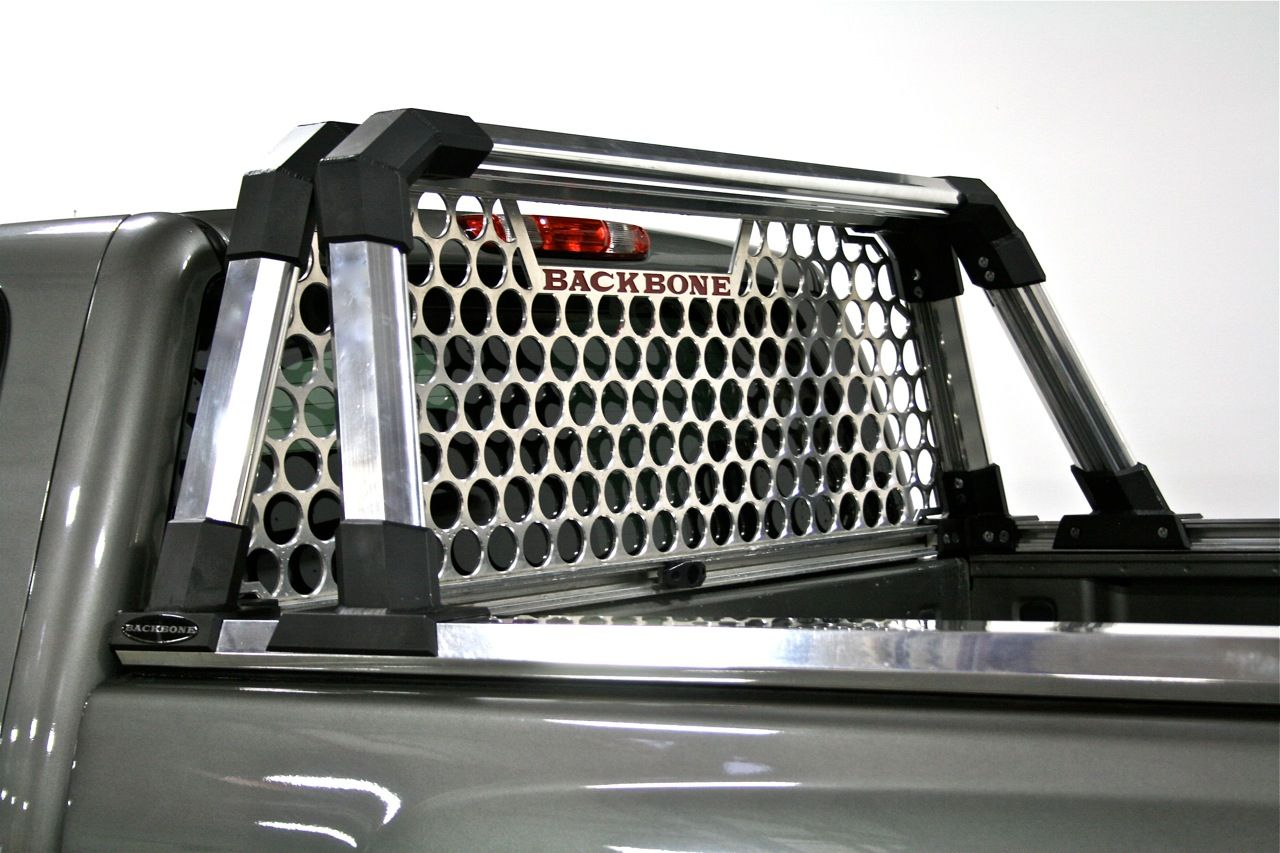 The Vback Can Be Moved Forward To Make Room For Tall Cargo More About Aftermarket Parts Backbone Headache Rack
