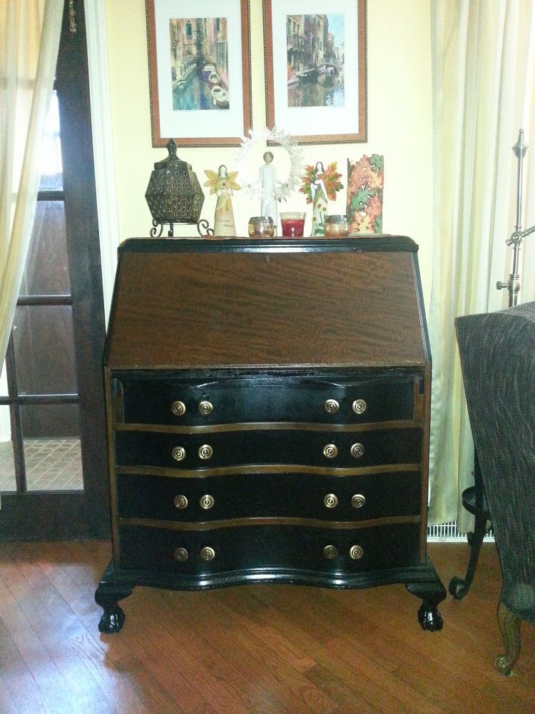 Awe Inspiring Old Secretary Desk Gets New Life Furniture Love Download Free Architecture Designs Scobabritishbridgeorg