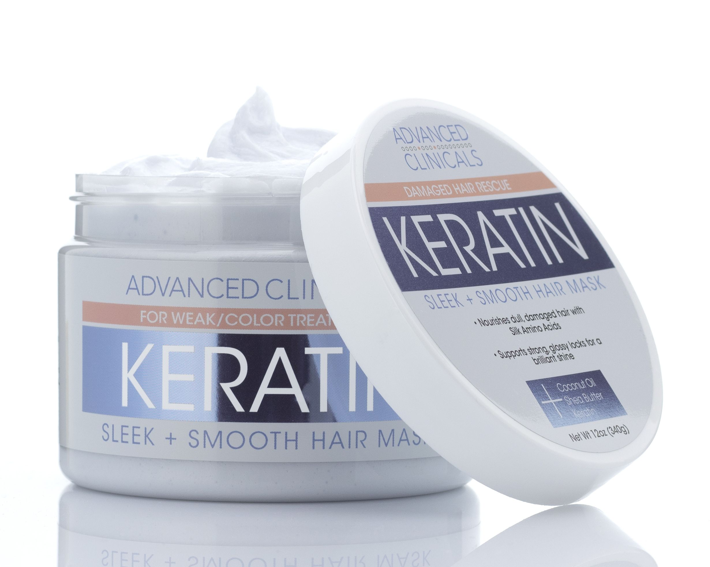 Advanced Clinicals Keratin Sleek Smooth Hair Mask Conditioner Mask For Weak And Color Treated Hair 12 Fl Oz Walmart Com In 2021 Smooth Hair Mask Hair Treatment Mask Keratin Hair Treatment