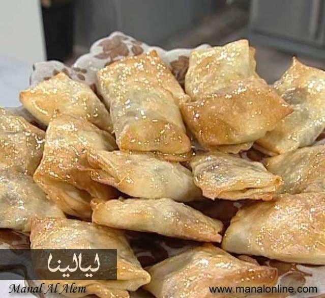 مطبق بالجوز والتمر من منال العالم Arabic Sweets Middle Eastern Food Desserts Middle East Food