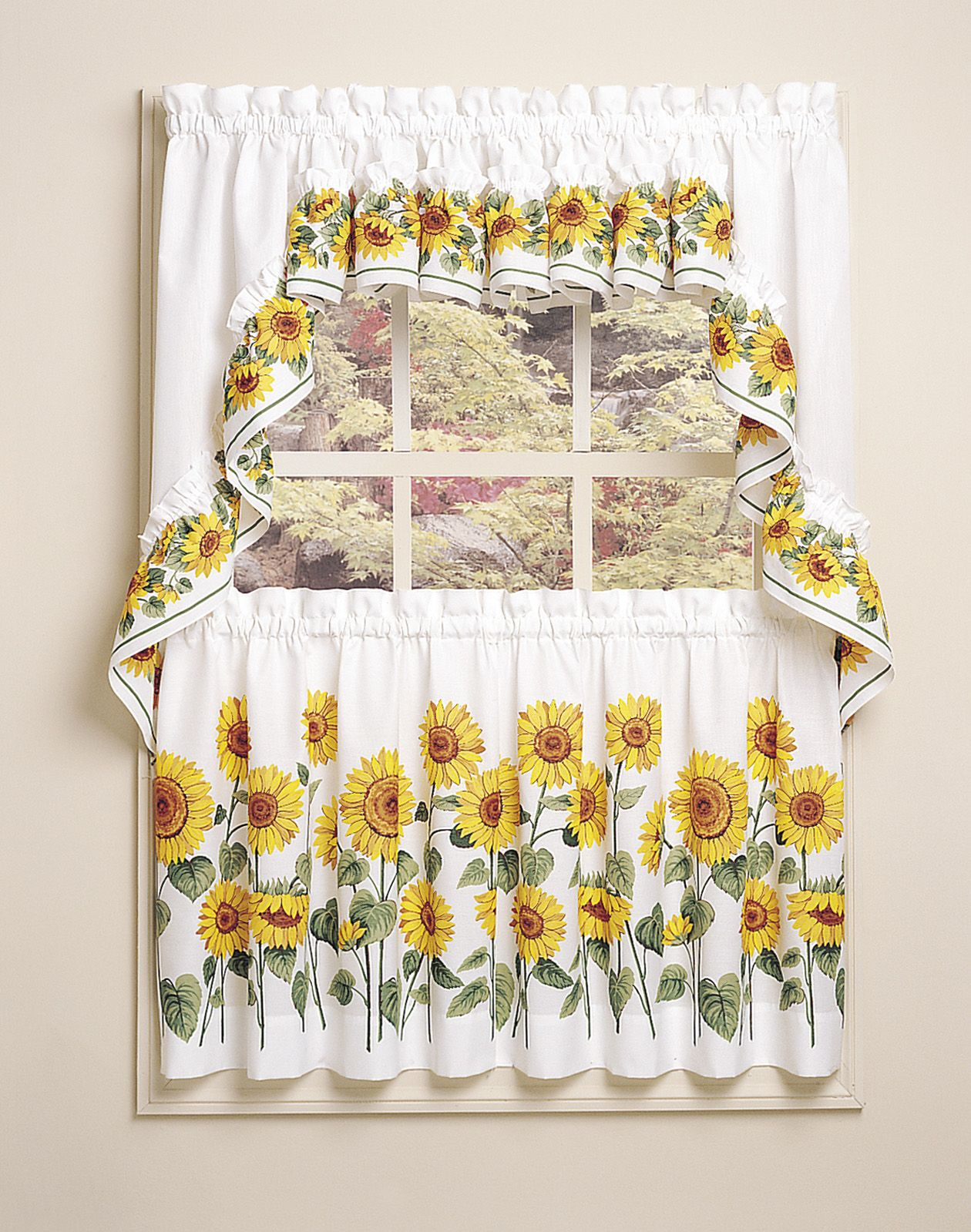 Kitchen Curtains With Sunflowers