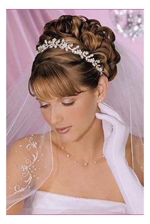 Updo Hairstyles With Bangs Hairstyles Updos Bangs Weddings