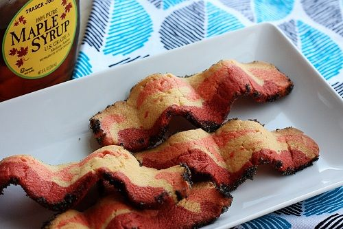 Cookies that look like bacon