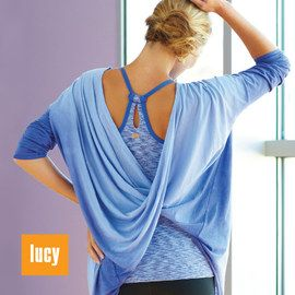 lucy. cutest yoga clothes EVER.