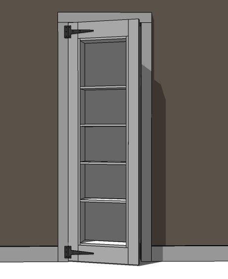 Build A Inset Bookshelf Doorway