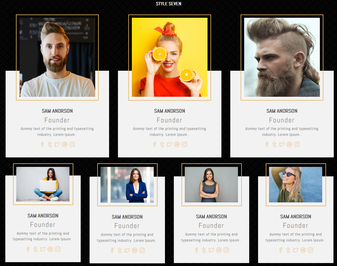 Pantherx Profile Card Grid Is A Multipurpose Profile Cards Inspirational Cards Name Cards