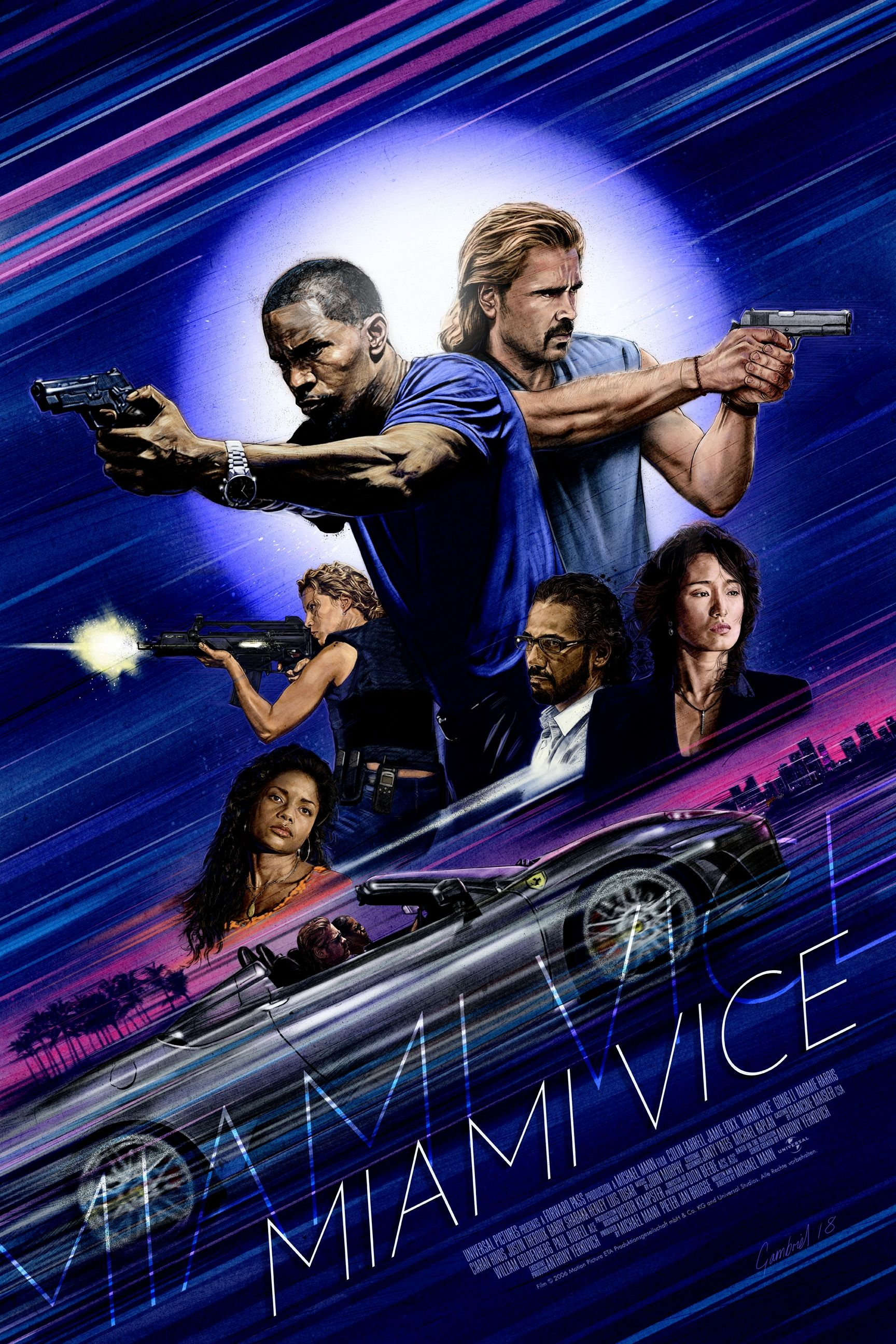 Miami Vice Posterspy Mike Gambriel Best Movie Posters Miami Vice Movie Posters