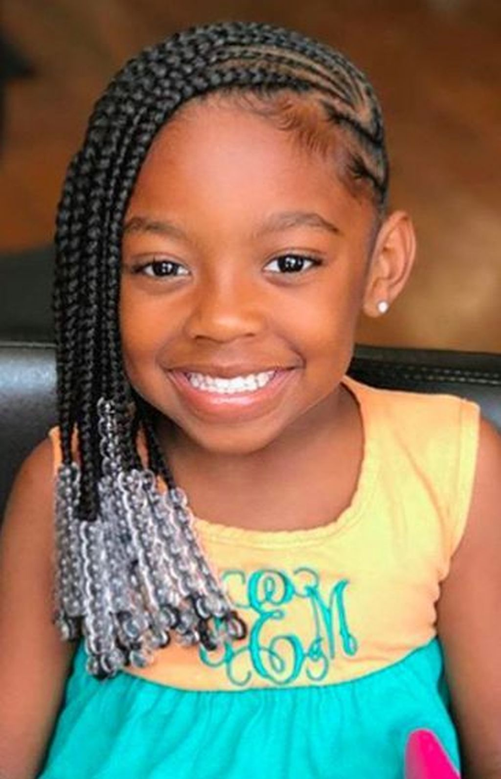 50 Pretty Kids Braided Hairstyles Ideas With Beads Cornrows For Little Girls Braids For Kids Girls Cornrow Hairstyles