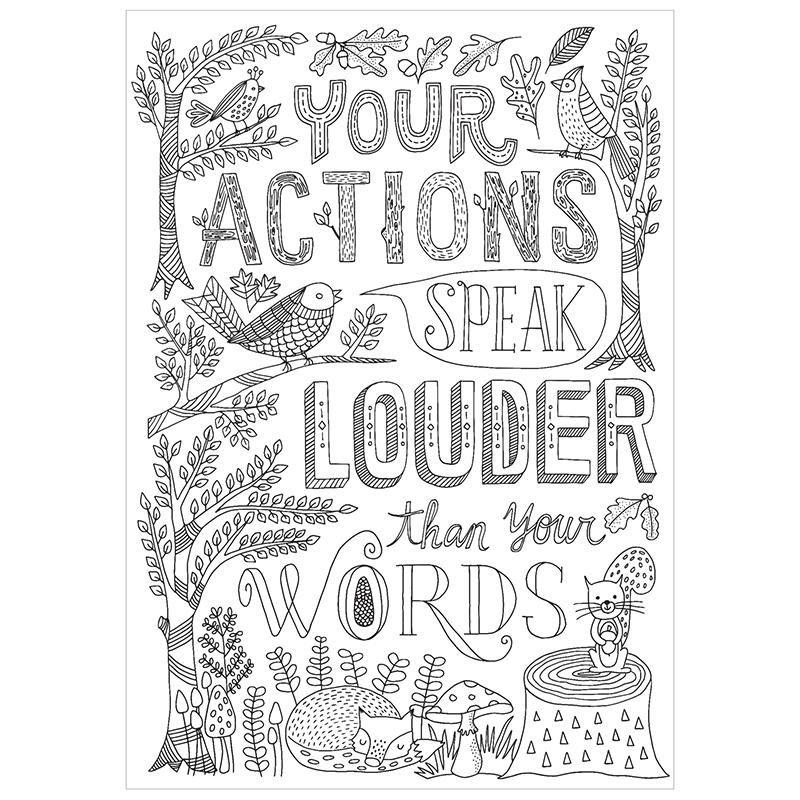 Your actions inspire u poster   Pedagogia