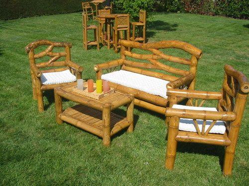 Mobilier En Bambou Salon De Jardin En Bambou Matahari Www