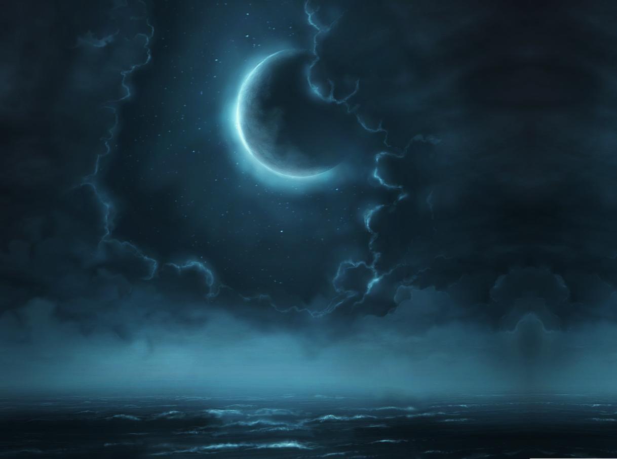 Moonlight Fantasy Mystical Night Artwork Wallpaper Art Night Sky Wallpaper Night Sky Artwork Moonlit Sky
