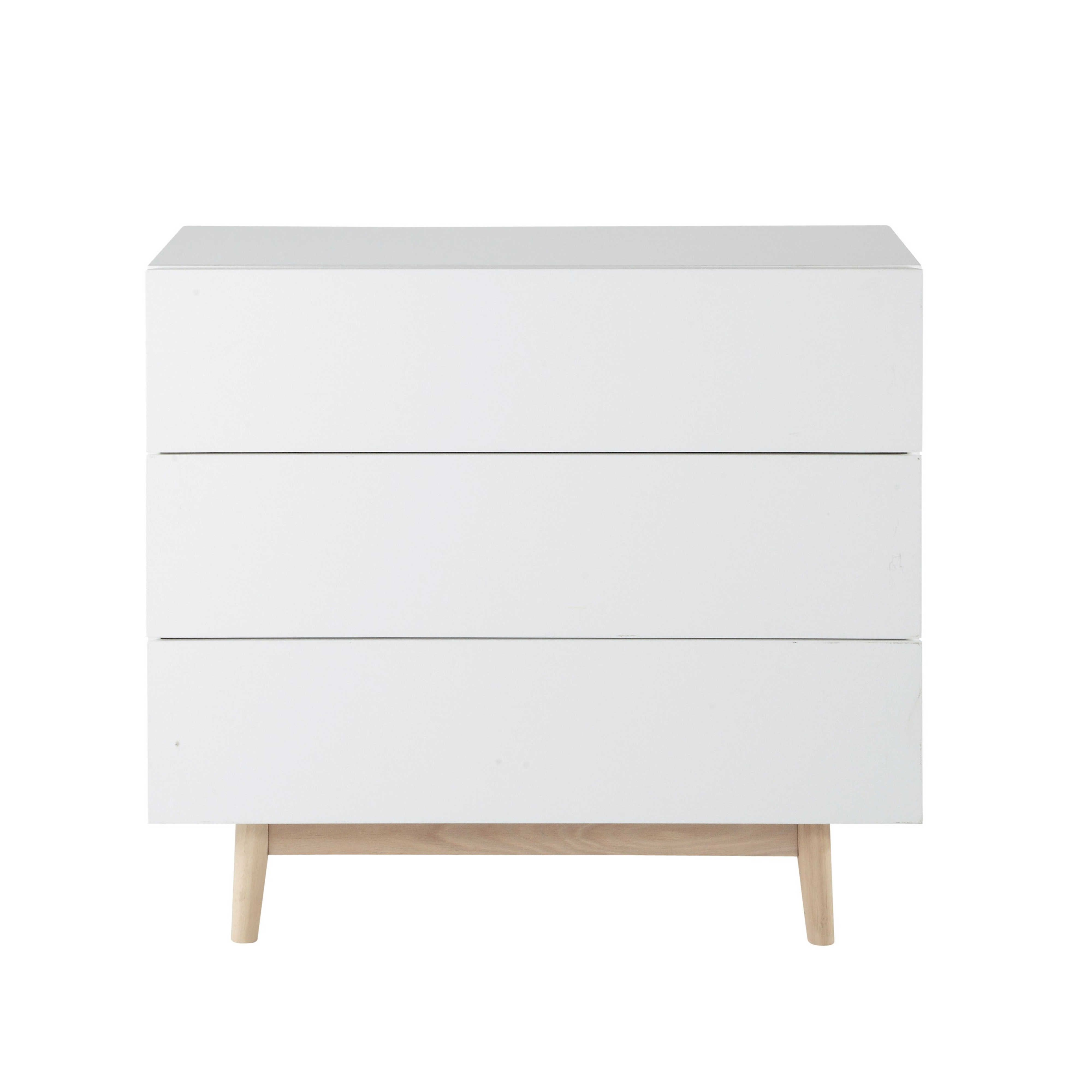 commode vintage blanche ambiance scandinave bois blanc et maison du monde. Black Bedroom Furniture Sets. Home Design Ideas