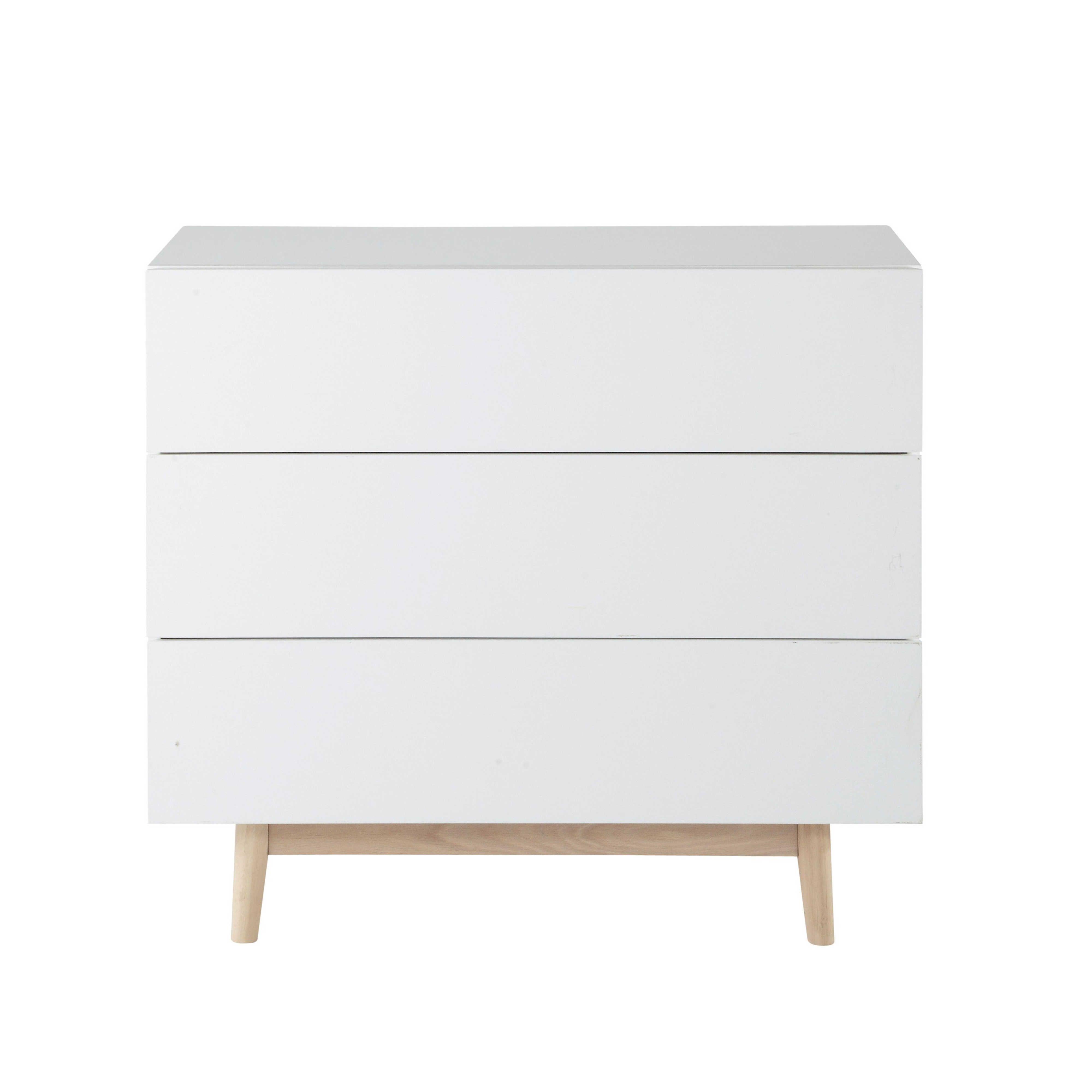 commode vintage en bois blanche l 90 cm artic maisons du monde commode vintage commode bois meuble rangement