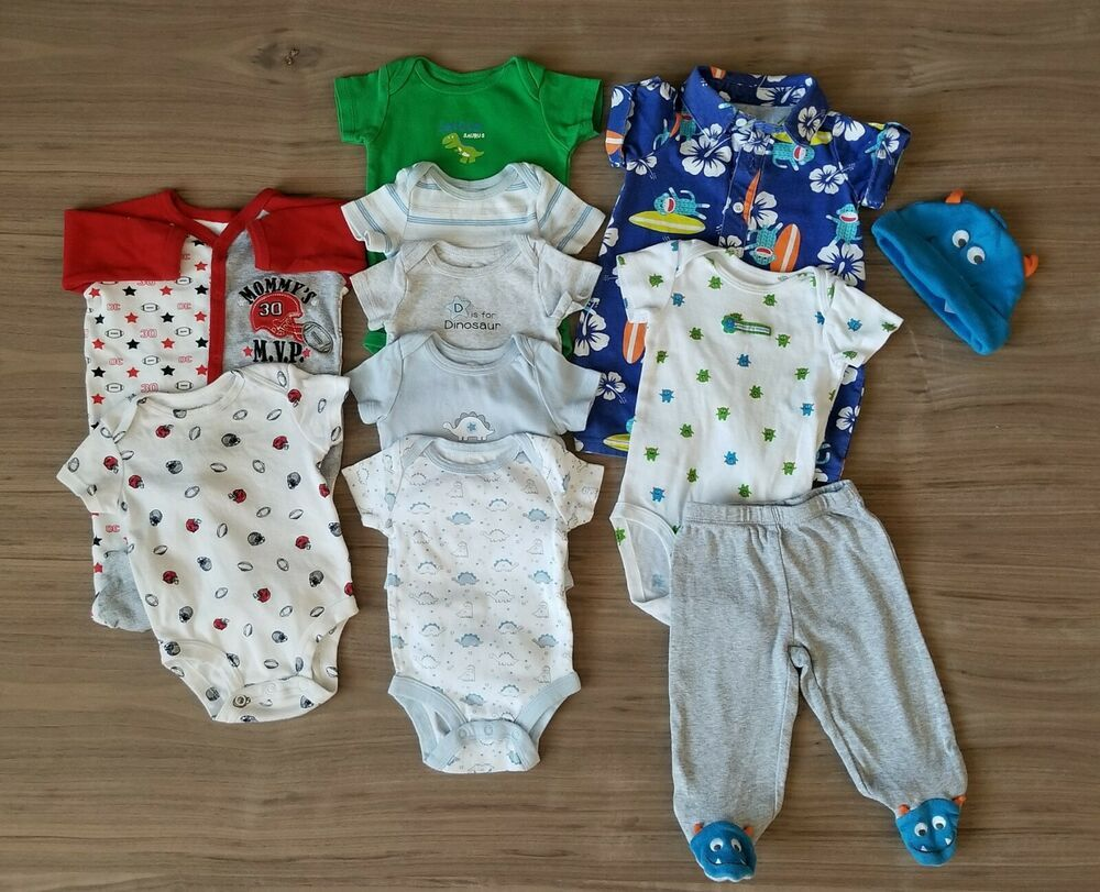 Baby Boy Clothes 0 3 Months Lot Spring Summer Monsters Dinosaurs Football Fashion Clothing Shoes Accessori Baby Boy Outfits Baby Toddler Clothing Clothes