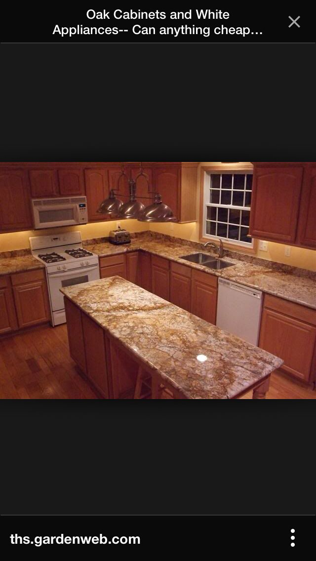 Oak cabis granite countertops