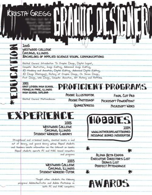 Probably one of the most unique resumes I have seen The life of - unique resumes