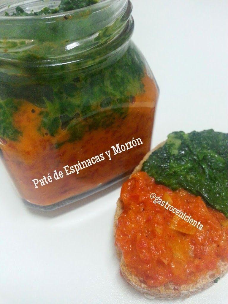 Paté de Espinacas y Pimiento Morrón | Gastrocenicienta