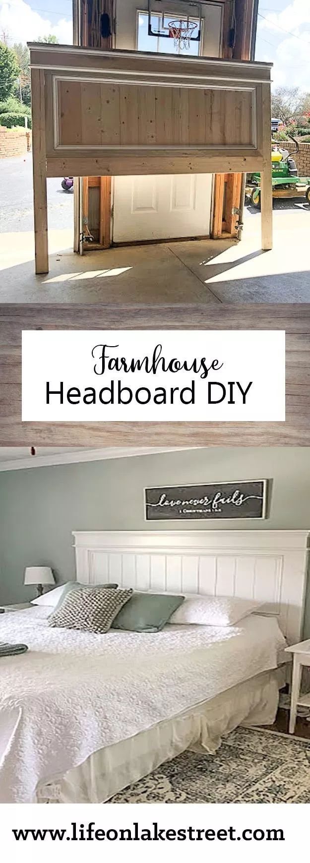 How to Build a Beautiful DIY Farmhouse Headboard- A Weekend Project - -   19 diy Headboard king ideas