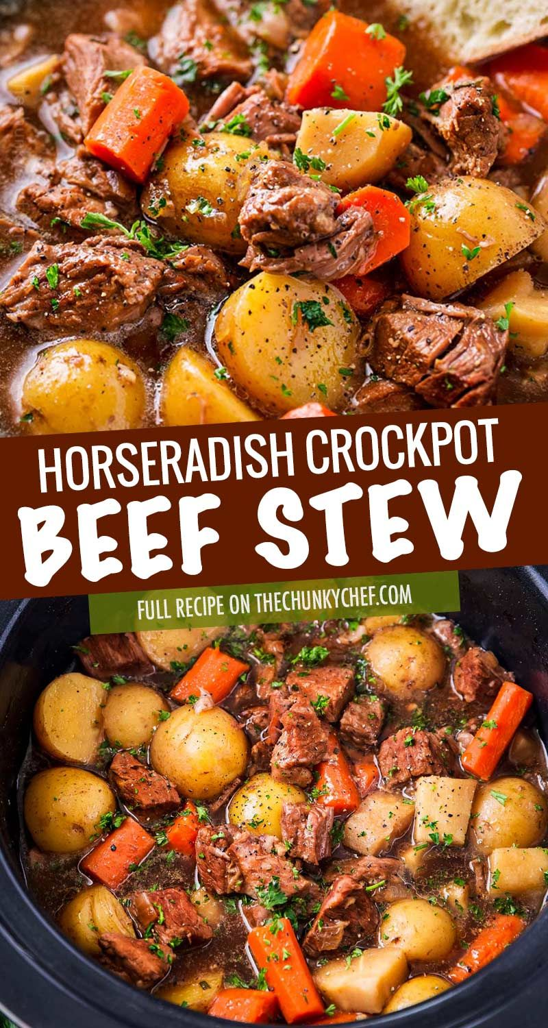 Photo of Crockpot Beef Stew (with Beer and Horseradish) – The Chunky Chef