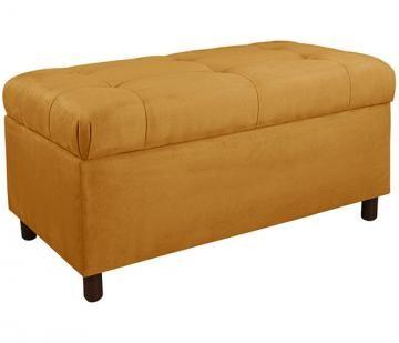 Langley Custom Upholstered Storage Bench Seasonal Tufted Bedroom End