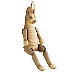 Wooden Hinged Rabbit