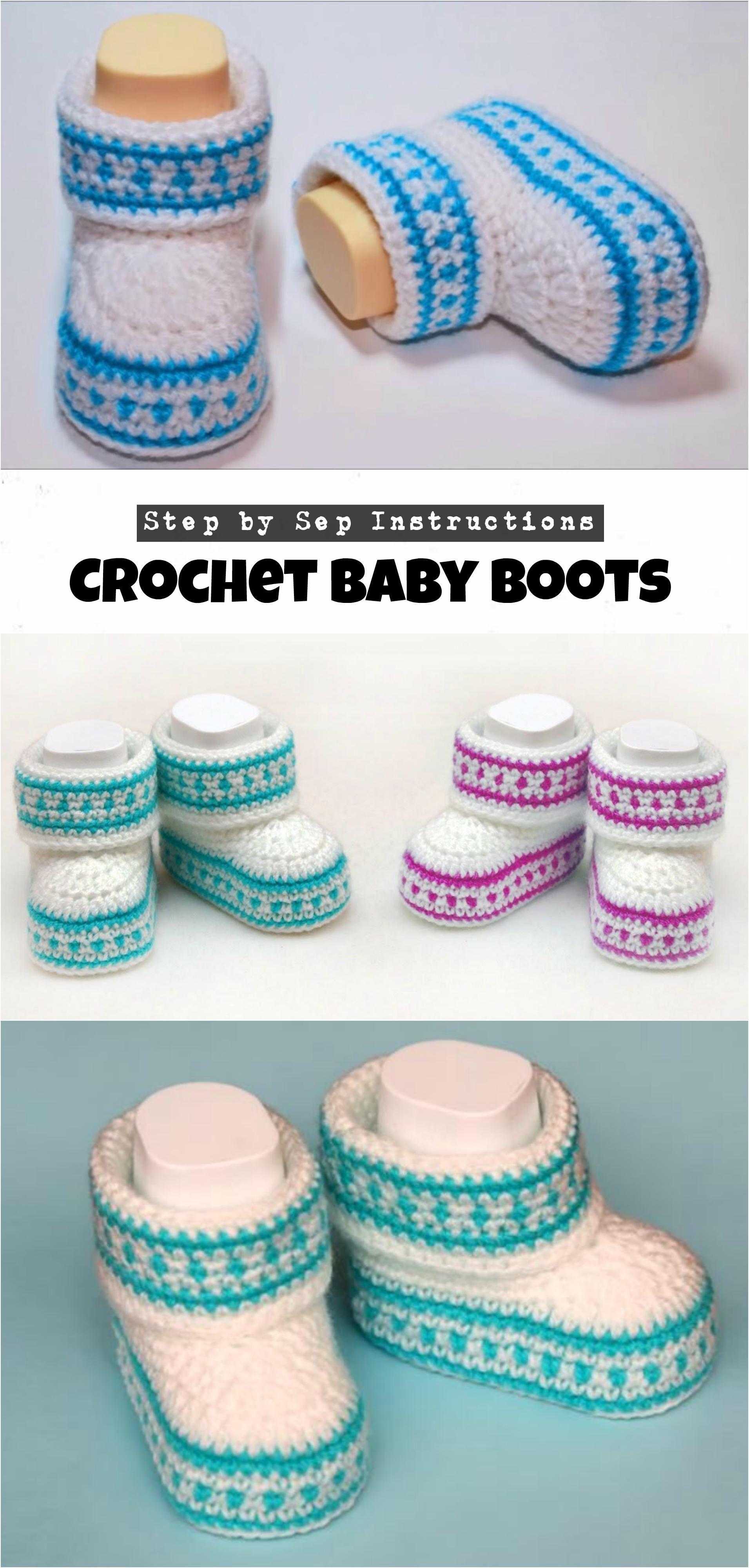 Crochet Baby Boots | CROCHET | Pinterest