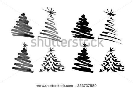 Hand Sketch Christmas Tree Vector Illustration Hand Sketch Vector Illustration Tree Sketches