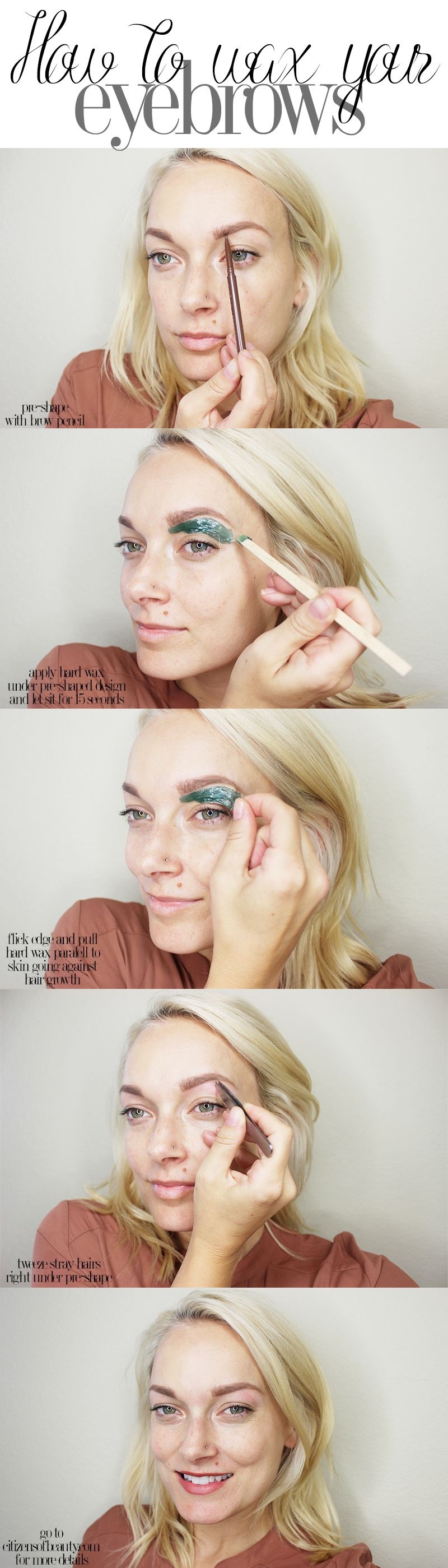 How to Wax Your Eyebrows at Home | Eyebrows, Beauty ...