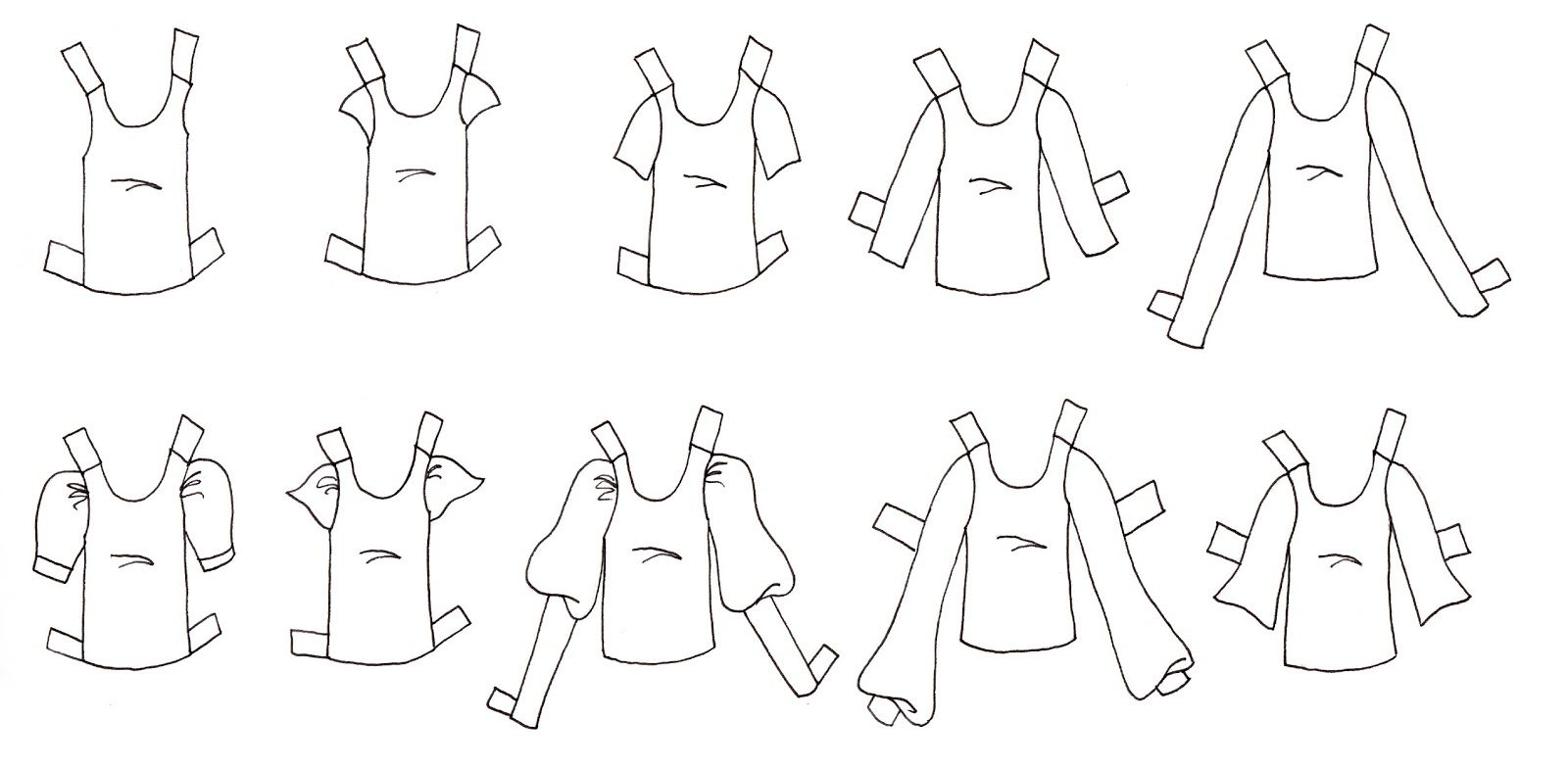 Paper Doll Template | Something I often do with my fashion dolls is ...