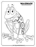 Word World Frog Coloring Pages Kindergarten Coloring Pages Frog Coloring Pages Disney Coloring Pages