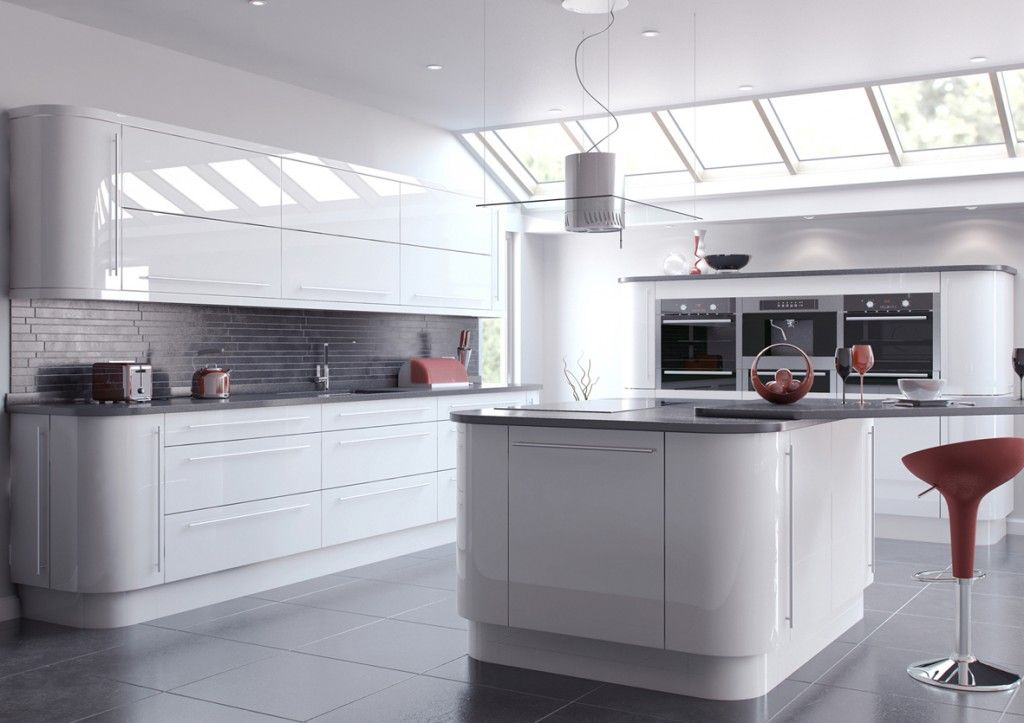 White Kitchen Units With Grey Worktop grey worktop with grey tiles splash back | splash backs